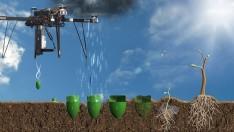 Özel geliştirilen dronelar, bir günde 100.000 ağaç ekebiliyor.
