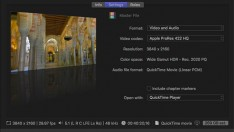 Final Cut Pro X HDR ana dosyanızı dışa aktarmak